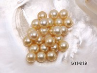 South Sea Pearl—AAA-grade 12-13mm Round Golden South Sea Pearl