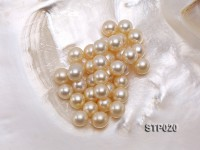South Sea Pearl—AA-grade 9-10mm Round Golden South Sea Pearl