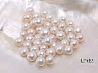11X12-11X12.5mm Classic White Flat Loose Pearl