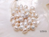 Wholesale 11X16-12X17mm Classic White Drop-shaped Loose Freshwater Pearls