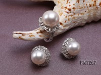 White Freshwater Pearl Ring and Earrings Set