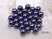 Wholesale 12mm Ink Blue Round Seashell Pearl Bead