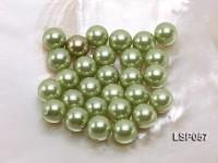 Wholesale 12mm Green Round Seashell Pearl Bead