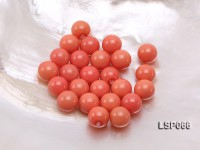 Wholesale 12mm Round Orange Red Seashell Pearl Beads