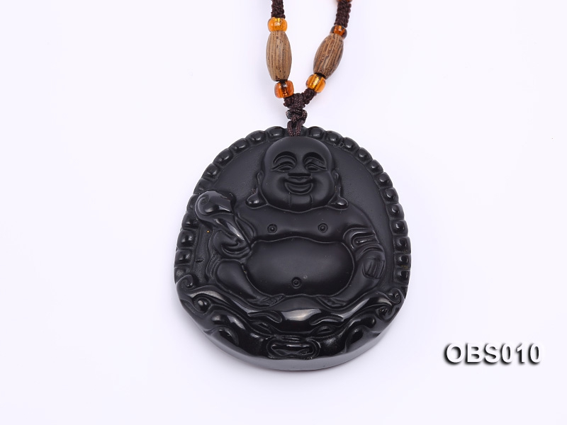 45x55mm Black Obsidian Pendant