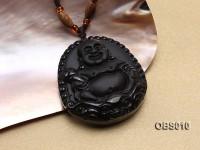 45x55mm Black Obsidian Pendant