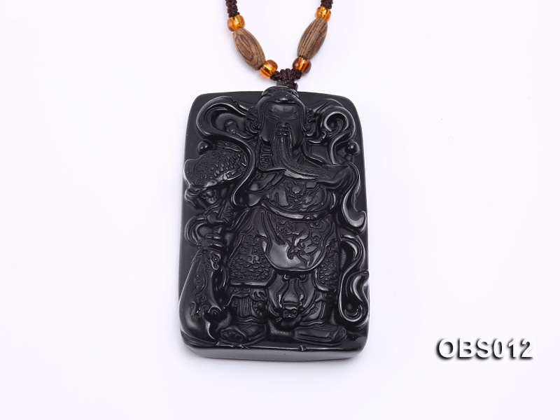 40x55mm Black Obsidian Pendant