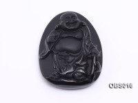 43x55mm Black Obsidian Pendant