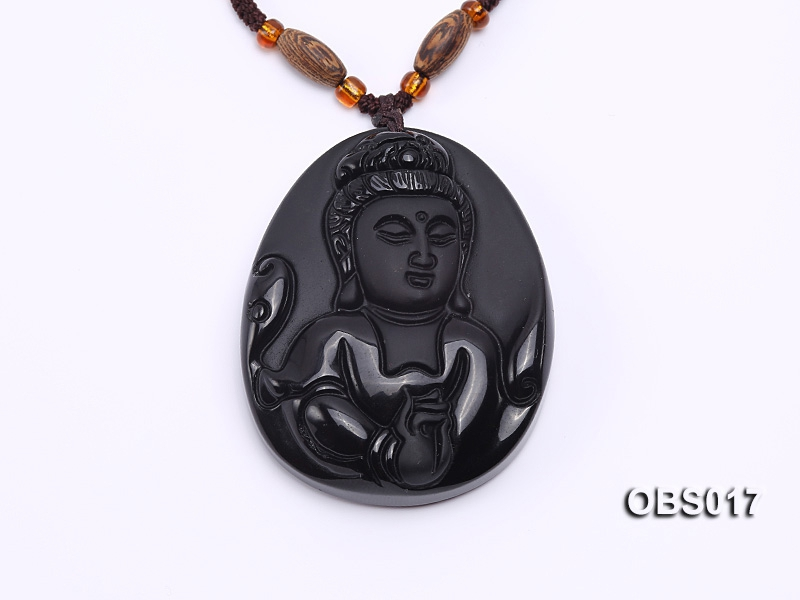 40x50mm Black Obsidian Pendant