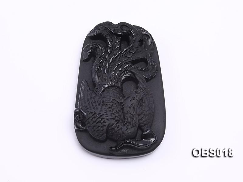 37x53mm Black Obsidian Pendant