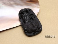 37x53mm Black Obsidian Pendant