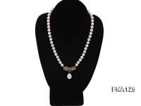 Selected 8-9mm Round White Freshwater Pearl Necklace