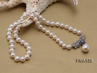 Selected 8-9mm Round White Pearl Necklace