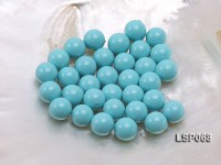 Wholesale 12mm Sky-blue Round Seashell Pearl Bead