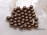 Wholesale 10-11mm Deep Brown Round Seashell Pearl Bead