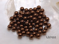Wholesale 8.5mm Deep Brown Round Seashell Pearl Bead