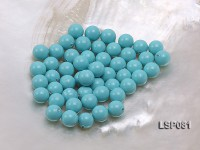 Wholesale 8.5mm Sky-blue Round Seashell Pearl Bead