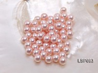 Wholesale 8.5-9mm Pink Round Seashell Pearl Bead