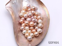 AA-grade 13-15mm Pink/Lavender Loose Round Edison Pearls