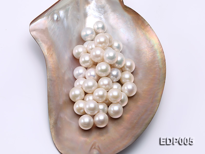 AA-grade 13-14.5mm Classic White Loose Round Edison Pearls