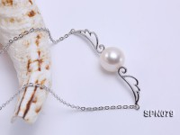 10.5mm AAA top quality freshwater pearl pendant with silver chain