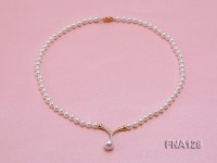 6mm White Round Cultured Freshwater Pearl Necklace