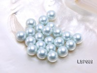 Wholesale 14.5mm Light Blue Round Seashell Pearl Bead