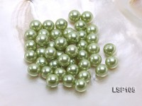 Wholesale 10.5mm Olive Round Seashell Pearl Bead