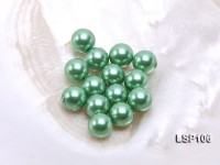 Wholesale 10.5mm Green Round Seashell Pearl Bead