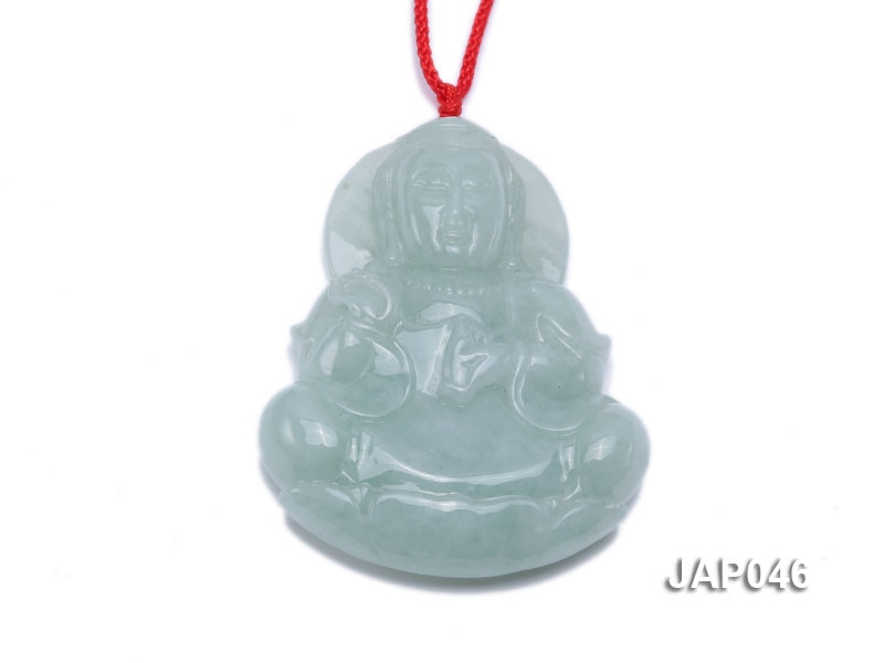 42x55mm Natural Jadeite Buddha Pendant
