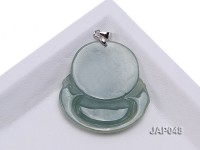 35x39mm Natural Jadeite Buddha Pendant