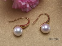 8mm AAA top quality akoya pearl earrings in 18K gold