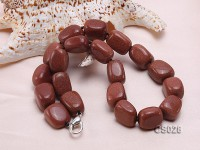 21x14mm Red Goldstone Necklace