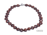 18×17.5mm Heart-shaped Goldstone Necklace