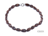 21x10mm Irregular Goldstone Beads Necklace
