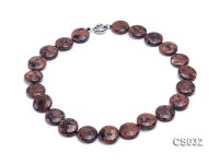 20mm Disc-shaped Goldstone Necklace