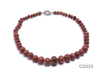 8-18mm Wheel-shaped Faceted Goldstone Beads Necklace