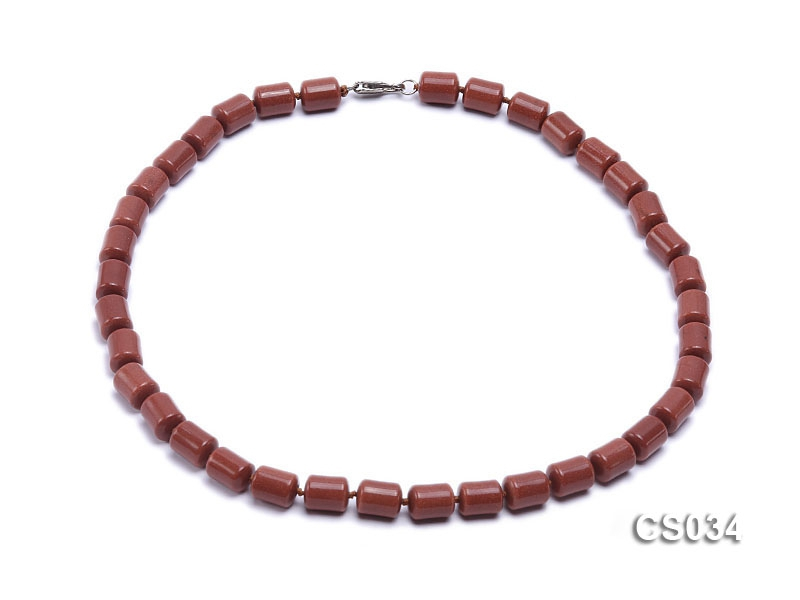 10.5×8.5mm Goldstone Beads Necklace