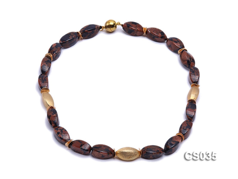 20x10mm Goldstone Beads Necklace