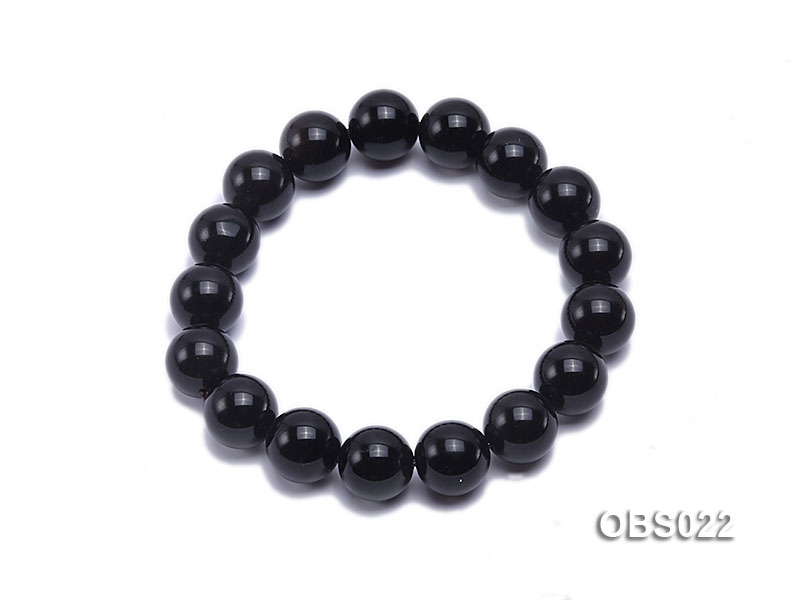 12mm Black Obsidian Bracelet