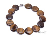 28mm Tiger Eye Beaded Necklace