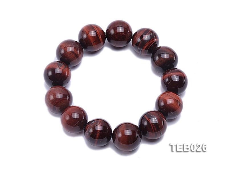 18.5mm Tiger Eye Beads Elasticated Bracelet