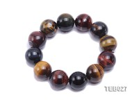 20mm Tiger Eye Beads Elasticated Bracelet