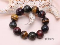 20mm Tiger Eye Beads Elasticated Bracelet