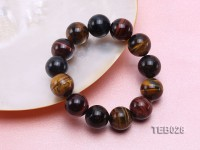 16.5mm Tiger Eye Beads Elasticated Bracelet