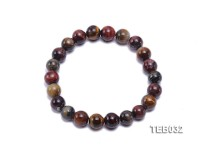 8.5mm Tiger Eye Beads Elasticated Bracelet