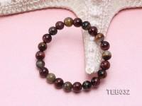 8.5mm Tiger Eye Beads Elasticated Bracelet