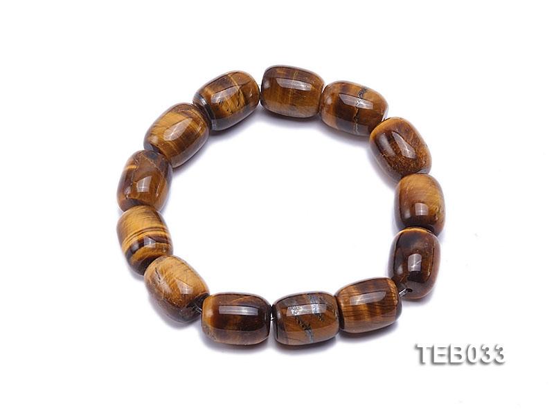 12x15mm Tiger Eye Beads Elasticated Bracelet