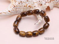 12x15mm Tiger Eye Beads Elasticated Bracelet