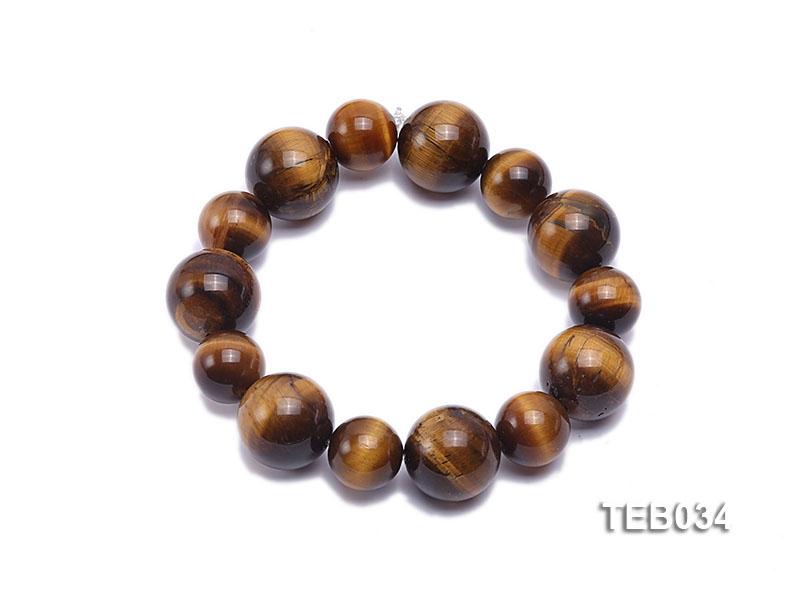 12-16mm Tiger Eye Beads Elasticated Bracelet